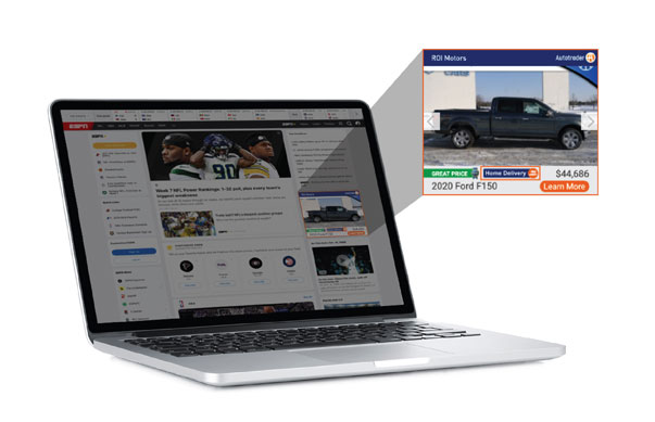 Laptop with advanced ad targeting example