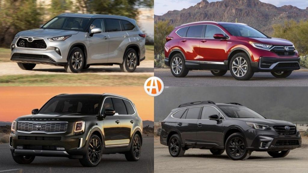 Splitscreen of four best used cars of 2021
