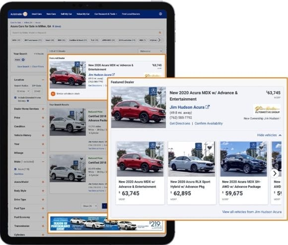 Alpha Elite display ads shown on Autotrader