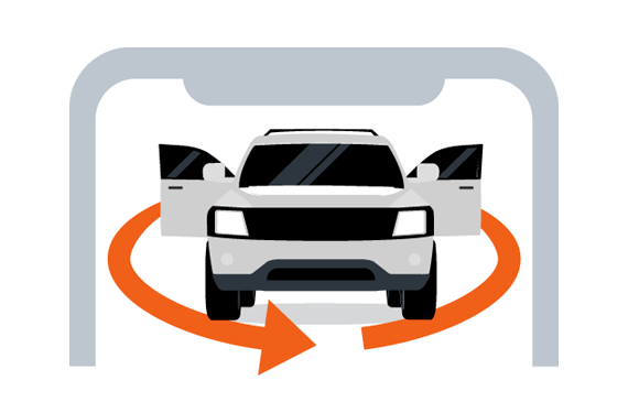 vehicle video walkround icon