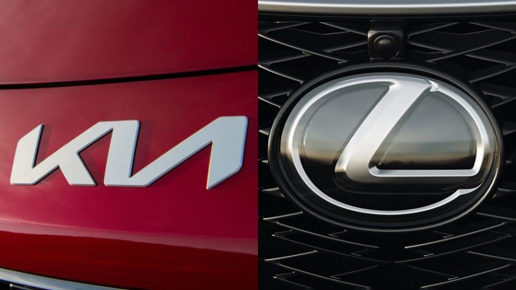 kia and lexus logos