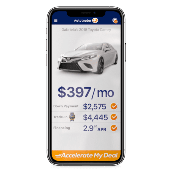 Accelerate My Deal digital retailing on Autotrader
