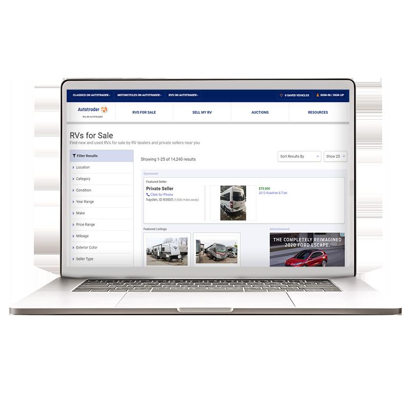 rvs.autotrader.com search results page
