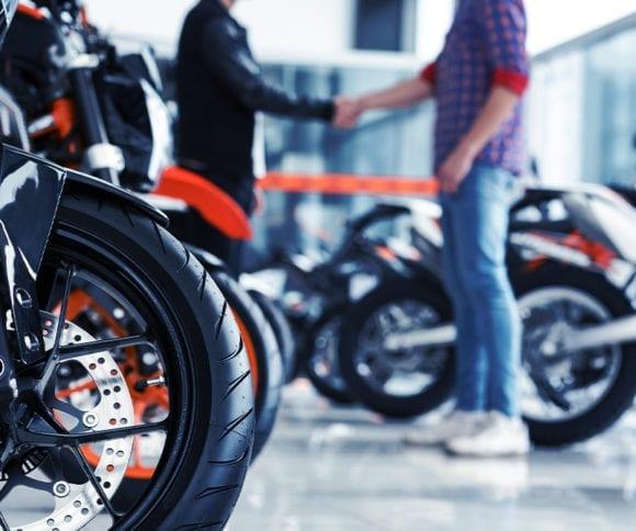 motorcycle dealership showroom
